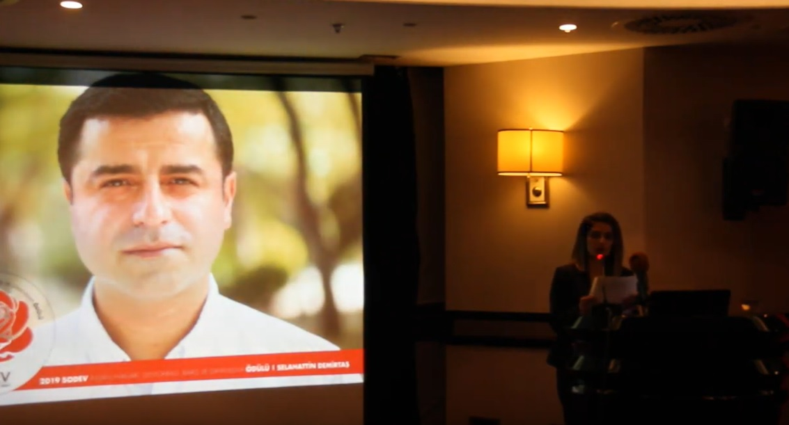 Sodev Presented The Human Rights Democracy Peace And Solidarity Award To Selahattin Demirtas Https Istanbulpost Com Tr