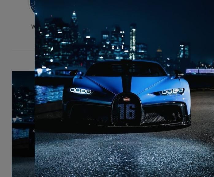A Bugatti Chiron; A Small Fortune