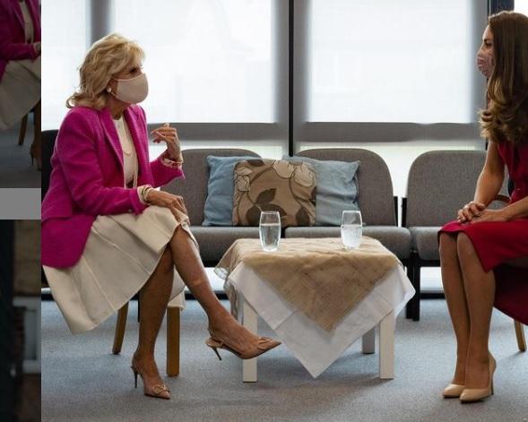 Kate Middleton and Jill Biden Visit School During G7 Summit in Cornwall