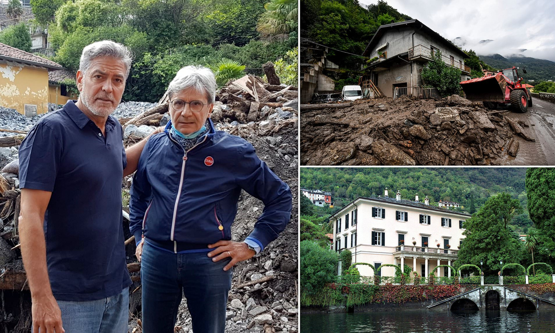 George Clooney Turns to Help Flooding Next to his Lake Como Mansion